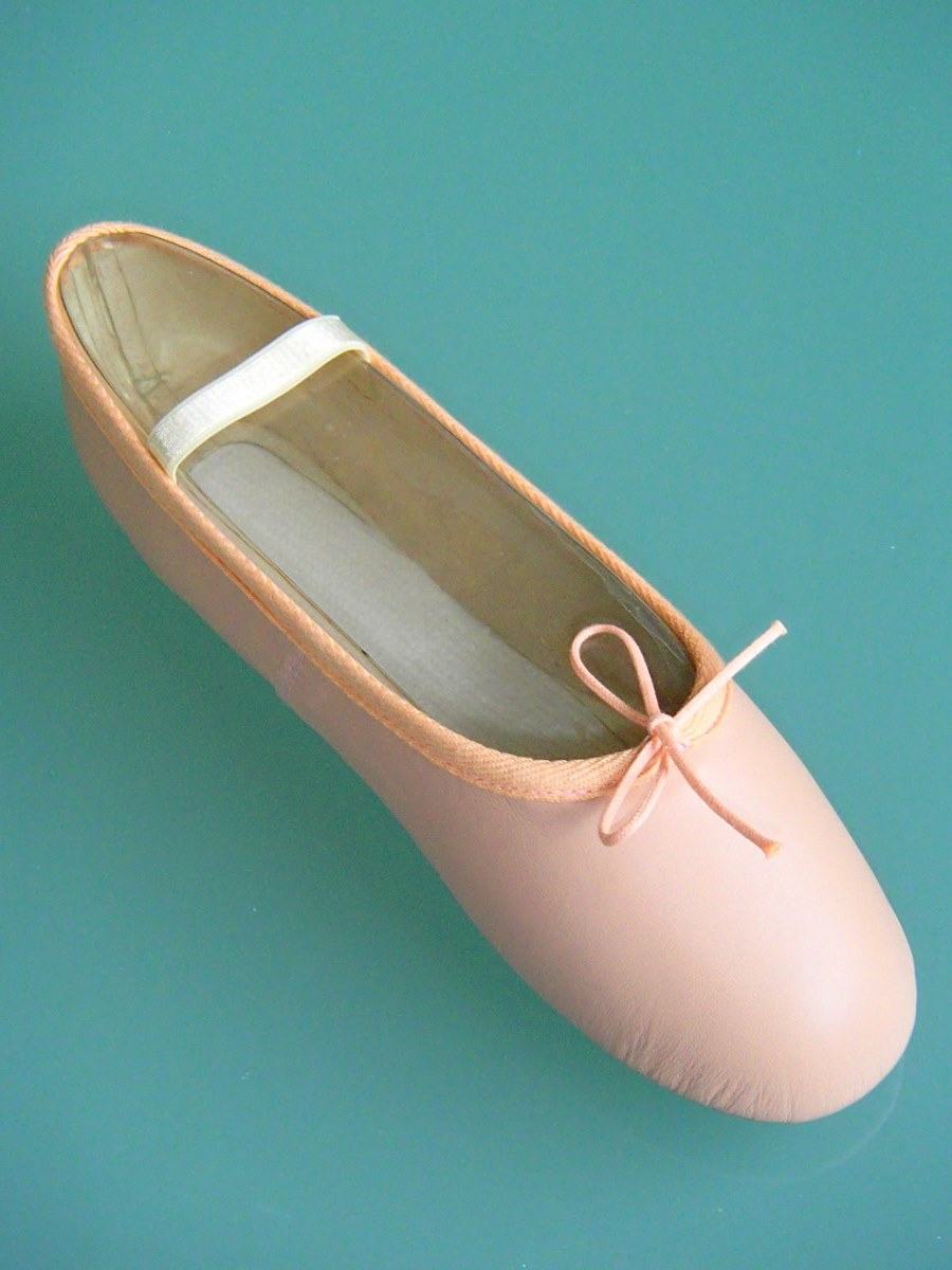 gandolfi pink leather sole ballet shoes 100pk gandolfi