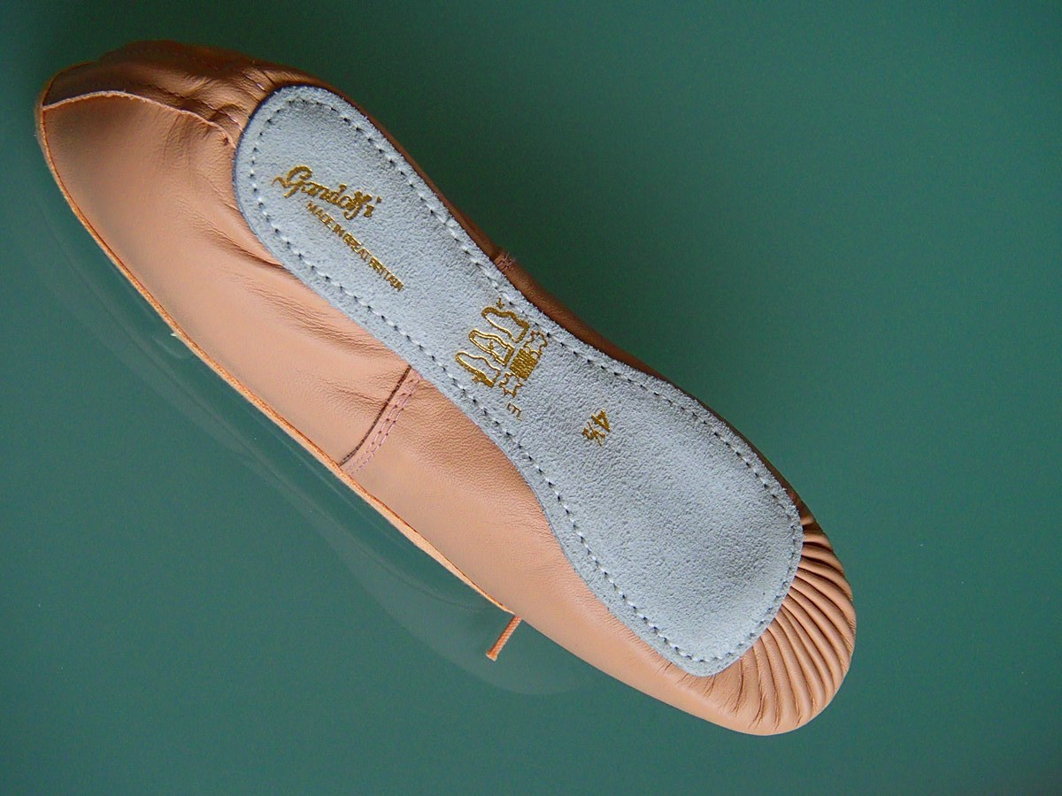 gandolfi pink leather ballet shoes 100pk gandolfi