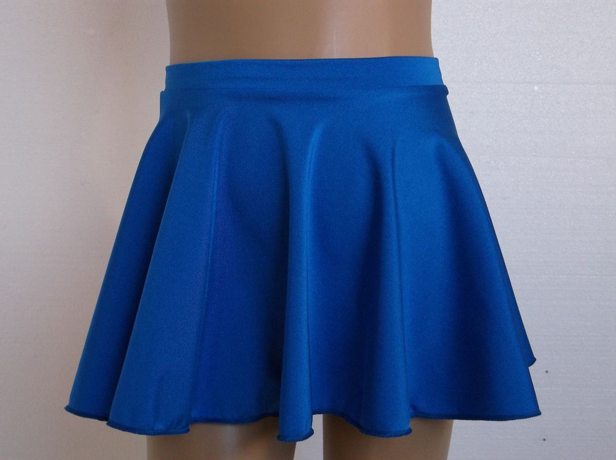 gandolfi royal blue circular shiny lycra skirt 9433 gandolfi